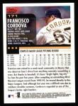 2000 Topps #171  Francisco Cordova  Back Thumbnail