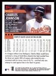 2000 Topps #256  Charles Johnson  Back Thumbnail