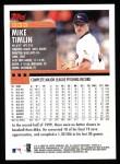 2000 Topps #333  Mike Timlin  Back Thumbnail