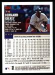 2000 Topps #74  Bernard Gilkey  Back Thumbnail