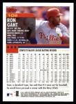 2000 Topps #102  Ron Gant  Back Thumbnail