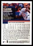 2000 Topps #181  Vladimir Guerrero  Back Thumbnail