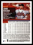 2000 Topps #314  John Rocker  Back Thumbnail