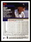 2000 Topps #5  Matt Williams  Back Thumbnail
