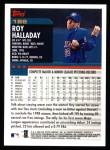 2000 Topps #186  Roy Halladay  Back Thumbnail