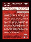 2000 Topps #222  Divisional Playoff - Kevin Millwood  Back Thumbnail