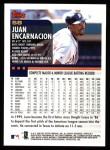 2000 Topps #58  Juan Encarnacion  Back Thumbnail