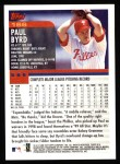 2000 Topps #166  Paul Byrd  Back Thumbnail