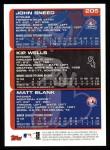 2000 Topps #205   -  John Sneed / Kip Wells Prospects Back Thumbnail
