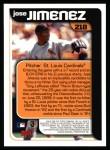 2000 Topps #218   -  Jose Jimenez  Highlights Back Thumbnail