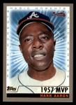 2000 Topps #237 B  -  Hank Aaron 1957 MVP - Magic Moments Front Thumbnail