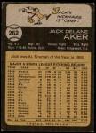 1973 Topps #262  Jack Aker  Back Thumbnail