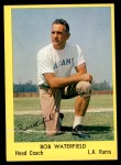 1960 Bell Brand Rams #39  Bob Waterfield  Front Thumbnail