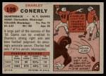 1957 Topps #109  Charley Conerly  Back Thumbnail