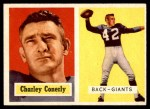 1957 Topps #109  Charley Conerly  Front Thumbnail