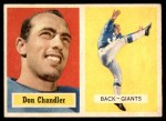 1957 Topps #23  Don Chandler  Front Thumbnail