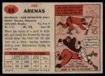 1957 Topps #66  Joe Arenas  Back Thumbnail