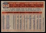 1957 Topps #187  Virgil Trucks  Back Thumbnail