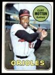 1969 Topps #37  Curt Motton  Front Thumbnail