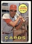 1969 Topps #497  Julian Javier  Front Thumbnail