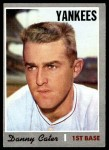 1970 Topps #437  Danny Cater  Front Thumbnail