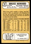 1968 Topps #293  Bruce Howard  Back Thumbnail
