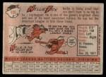 1958 Topps #400  Nellie Fox  Back Thumbnail