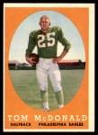 1958 Topps #126  Tom McDonald  Front Thumbnail