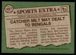1976 Topps Traded #532 T Milt May  Back Thumbnail