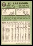 1967 Topps #121  Eddie Bressoud  Back Thumbnail