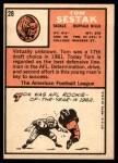 1966 Topps #28  Tom Sestak  Back Thumbnail
