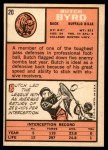1966 Topps #20  Butch Byrd  Back Thumbnail