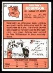 1966 Topps #74  Johnny Robinson  Back Thumbnail