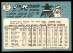 1965 Topps #114  Jim Hickman  Back Thumbnail