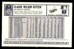 1973 Kellogg's #49  Claude Osteen  Back Thumbnail