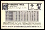 1973 Kellogg's #25  Willie Stargell  Back Thumbnail