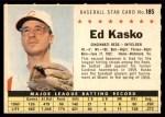 1961 Post #185 COM Eddie Kasko  Front Thumbnail