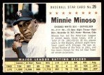 1961 Post Cereal #25 COM Minnie Minoso   Front Thumbnail