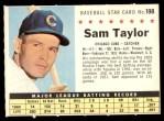 1961 Post Cereal #198 COM Sam Taylor   Front Thumbnail