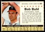 1961 Post Cereal #103 COM Bob Buhl  Front Thumbnail