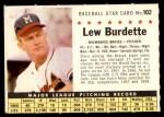 1961 Post Cereal #102 COM Lew Burdette   Front Thumbnail