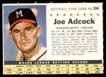 1961 Post #104 COM Joe Adcock   Front Thumbnail