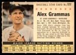 1961 Post Cereal #177 COM Alex Grammas   Front Thumbnail