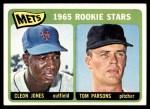 1965 Topps #308   -  Cleon Jones / Tom Parsons Mets Rookies Front Thumbnail
