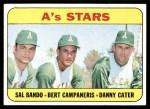 1969 Topps #556   -  Sal Bando / Bert Campaneris / Danny Cater A's Stars Front Thumbnail