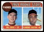 1969 Topps #304   -  Bill Davis / Cito Gaston Padres Rookies   Front Thumbnail