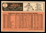 1966 Topps #409  Billy Hoeft  Back Thumbnail