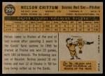 1960 Topps #296  Nelson Chittum  Back Thumbnail