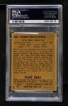 1940 Play Ball #229  Buck Herzog  Back Thumbnail