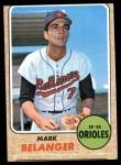 1968 Topps #118  Mark Belanger  Front Thumbnail
